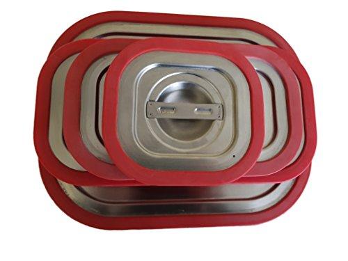 GN Behälter Gastronorm 1/6 Edelstahl Silikon Deckel