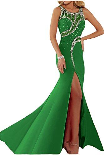 """Donna Ivydressing lussuosamente kraftool rotondo colletto""""sassi un'ampia vestito da sera abito da festa Verde"""