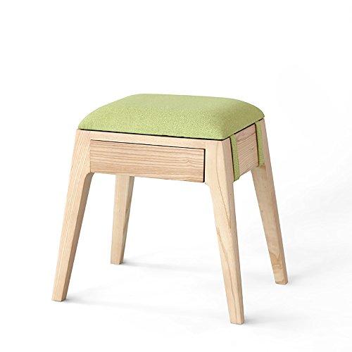 LJHA Tabouret pliable Tabouret moderne en bois solide / tabouret de table de dressage / changement de porte de chaussures tabouret / tabouret de stockage de sofa de salon chaise patchwork ( Couleur : A-Green )