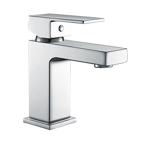Uuhome rubinetto miscelatore monocomando, per lavabo bagno bidet lavandino, di ottone cromato t10j