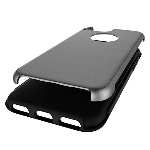 """iPhone 6s Schutzhülle, [Tough Armor] CLTPY iPhone 6 Handycase Ultra Hybrid PC & Silikon Abdeckung mit Flip [Kickstand] & Kartenschlitz, Schwarz Rüstung Harter Fall für 4.7"""" Apple iPhone 6/6s + 1 x Sti Grau"""
