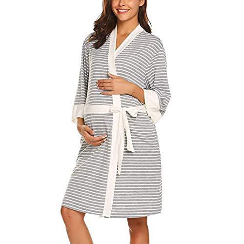 Gagacity camicia da notte maternita e allattamento dell'ospedale camicia prenatale e postnatale casuale