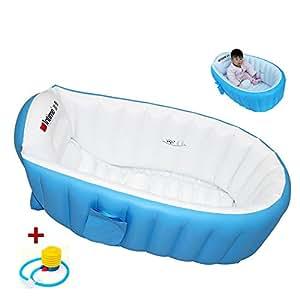 Baignoire enfants gonflable pour b b s cuve piscine pour t bain souple baignoire anti - Baignoire bebe de voyage ...