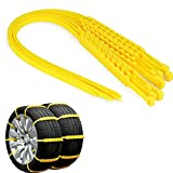 MASO Snow Chains 20Pcs Anti-Skid Snow Chains for Tyres Portable Easy to Mount