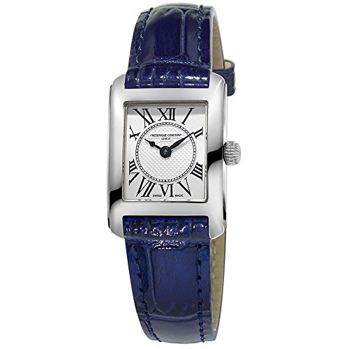 Frederique Constant Women's Classics Carree Blue Crocodile Leather Band Steel Case Quartz Watch FC-200MC16