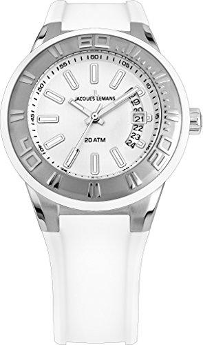 Jacques Lemans Damen Armbanduhr Multi Zifferblatt Quarz Silikon 1-1785B