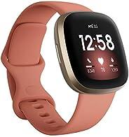Fitbit Versa 3 - Smartwatch de salud y forma física con GPS integrado, análisis continuo de la frecuencia card