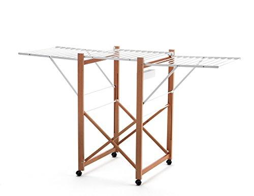 ARREDAMENTI ITALIA Wäscheständer AIRONE, Holz - Klappbar - Ausziehbar 21 mt Leine - Farbe: Kirsche Holz AR-It il Cuore del...