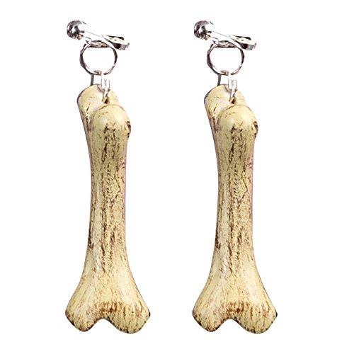 Cave Man / Woman Bone Earrings Fancy Dress ()