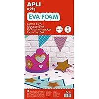 APLI Kids - Bolsa goma EVA blanco, 400x600x2mm 5 hojas