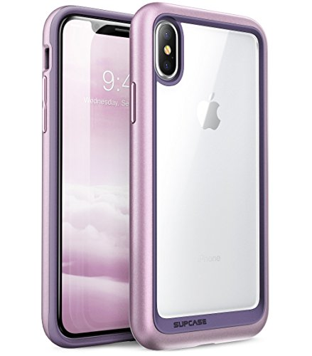 Supcase iPhone X / iPhone XS Hülle Unicorn Beetle Style Handyhülle Transparent Backcover, Lila