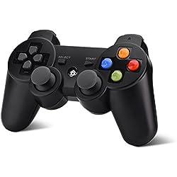 Eboxer sans Fil 2,4G Bluetooth Gamepad Manette de Jeu Rotation à 360° Joystick Set-Top Box, Ordinateur, téléphone Intelligent, Smart TV, PS3, Letv, Xiaomi TV, Hisense TV, Noir