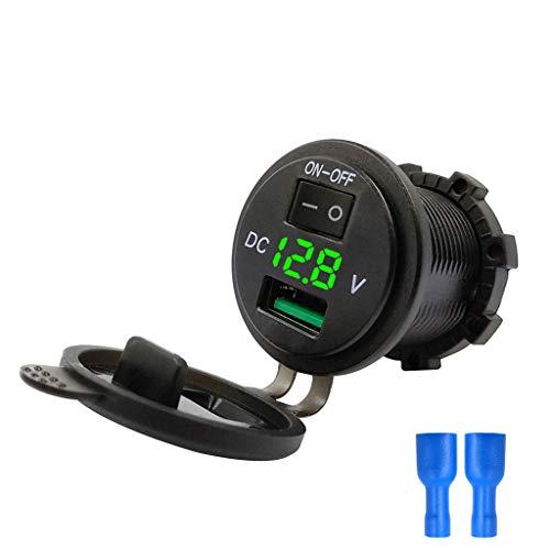CAOQAO Caricabatteria per Auto LED Accendisigari Femmina Convertitore/Compatibile con Vari Tipi di Accendisigari/Nero/con Scheda Impermeabile