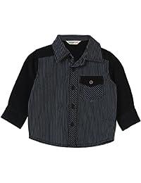 Beebay Infant-boy Striped Corduroy Shirt (Black)
