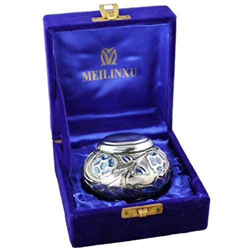 Klein Cremation Urne , Bestattung Urne für menschliche Asche, Messing und Hand Engraved - Passend für kleine Kreiert Verbleibt - Anzeige der Urne bei Home /Büro ( Pilze Formiert, Keepsake urne -