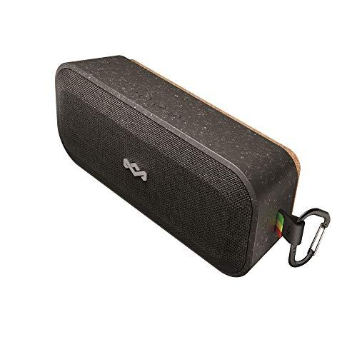 House of Marley No Bounds XL Bluetooth Lautsprecher - wasserdicht, staubdicht & sturzsicher IP67, schwimmfähig, 16 Stunden Akku, Karabiner, Schnellladung, sehr robust, Dual-Pairing, Mikrofon - Black