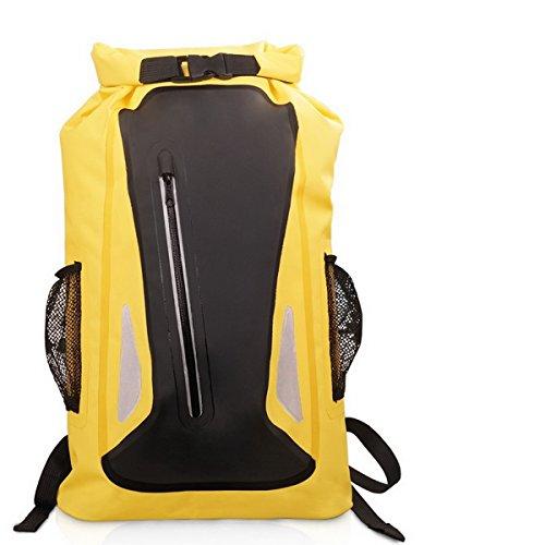 Imagen de acmebon  estanca unisex ligera impermeable bolsa de viaje de aventuras para actividades al aire libre como escalada,kayak,canotaje,piragüismo,pesca,rafting,baño amarillo 604