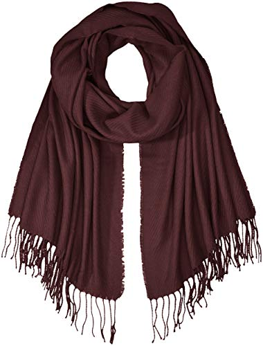 PIECES Damen Schal PCKIAL Long Scarf NOOS, Rot Winetasting, One Size