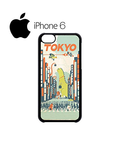 Tokyo City Cartoon Dinasaur Swag Mobile Phone Case Back Cover Hülle Weiß Schwarz for iPhone 6 White Schwarz
