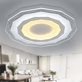 lzhing hei e deckenleuchte schlafzimmer modernen minimalistischen d nne acryl rund lampen. Black Bedroom Furniture Sets. Home Design Ideas