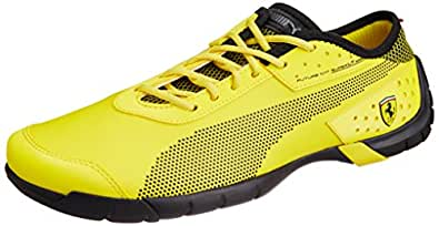 Puma Men's Future Cat SuperLT SF SL Vibrant Yellow and Black Sneakers - 12UK/India (47EU)
