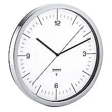 blomus Crono Radio-Controlled Clock, Stainless-Steel, White, 30.5 x 3 x 30.5 cm