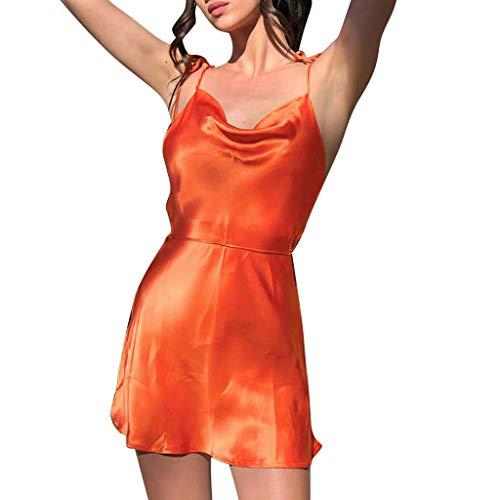 Nyuiuo Sleeveless Halter-Riemen-dünnes Kleid der Sommer-Frauen Faltende Spitze-Feste beiläufige Oberseite der reizvollen Frauen Minikleid -