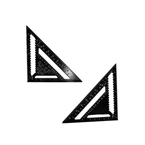 MuZuZi 12'Aluminiumlegierung Roofing Rafter Square Dreieck Lineal Winkel Winkelmesser