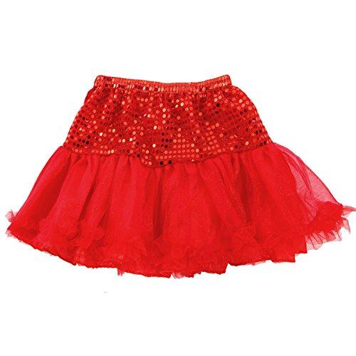 Glitzer 80er Jahre Damen Tüllrock Tutu Unterrock Petticoat Ballettrock Reifrock mit Pailletten (Mini-kleid 80er Jahre)