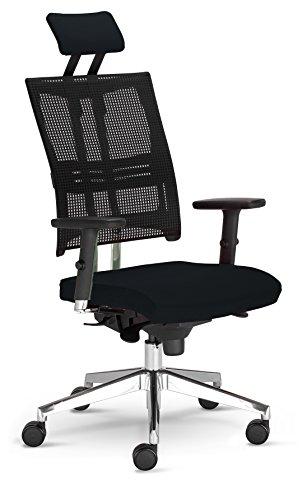 Nowy Styl NET-MOTION Arbeitsdrehstuhl schwarz 68.2 x 68.2 x 130 cm