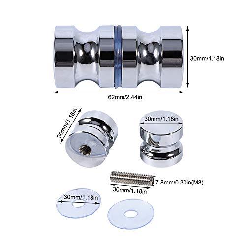 41VXpwzMQyL - Tirador para puerta de muebles Manija de puerta de la aleación de aluminio para el gabinete de la ducha del cuarto de baño del botón de cristal solo
