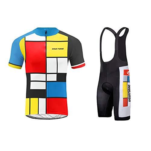 Uglyfrog Ciclismo Jersey Team Ciclismo Ropa Jersey Bib Shorts Kit Camisa de...