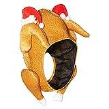 Naisicatar 1PC Felpa Pavo asado de Acción de Gracias Sombreros de Halloween Turquía Sombrero Víspera de la decoración del Partido (Cabeza Completa) Perfect Christmas