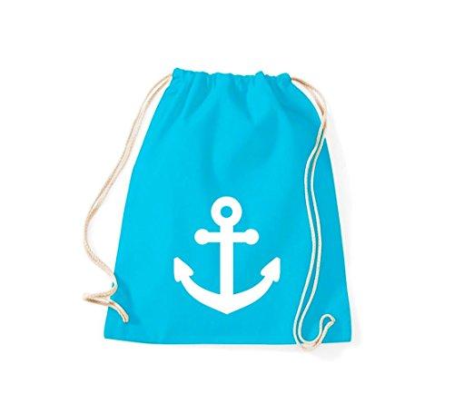 Shirtstown gymsac ancre de bateau skipper capitaine, plusieurs couleurs turquoise