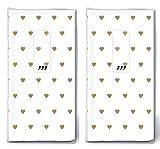 20 Taschentücher (2x 10) Kleine Herzen gold / Herzen / Hochzeit / Freudentränen