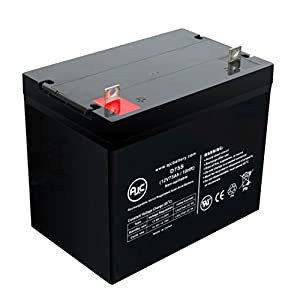 Wheelchair 12 Volt 75 Amp 12V 75Ah Wheelchair Battery - This is an AJC Brand® Replacement