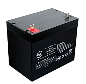 Batterie Quantum Q6 Edge HD 12V 75Ah Fauteuil roulant - Ce produit est un article de remplacement de la marque AJC®