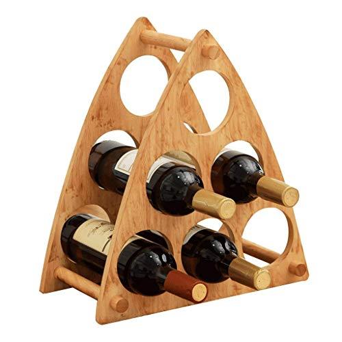 Wine Rack Home Hölzernes Dreieck-Weinregal-Rotwein-Weinregal