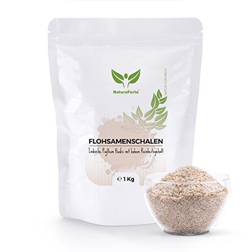 NaturaForte Cáscara De Psyllium En Polvo 1000g - Suplemento de Fibra Psyllium - Productos de la agricultura ecológica - Reduce el apetito de forma saludable 1kg