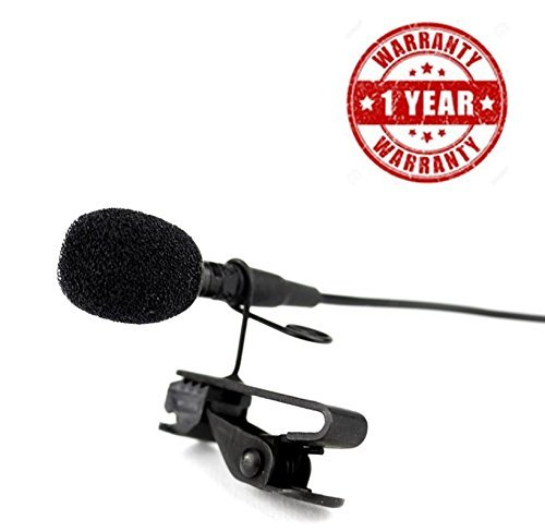 Supreno Imported 3.5mm Clip On Mini Lapel Lavalier Microphone Great for Voice-Overs, Interviews, Vlogs Compatible With Mi A1, Redmi Note-4 & Moto G5 (1 Year Warranty, Assorted Colour)