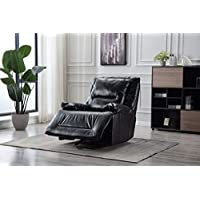 Bonzy Home glider recliner, Black