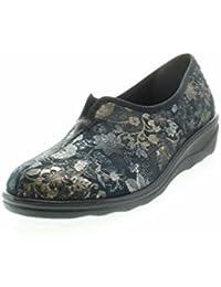 Romika 7001570/100 - Zapatillas de estar por casa de tela para mujer, color negro, talla 41