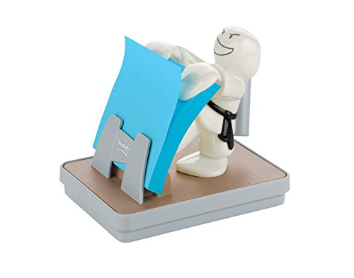 Post-it Brand Dispenser Ricaricabile e una Ricarica di Foglietti Post-It Z-Notes, 76 mm x 76 mm, Karate