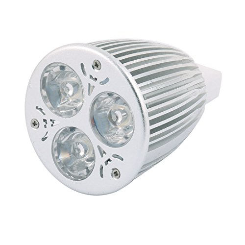 Aexit DC 12V Beleuchtung 9W MR16 3 LEDs COB Spotlight Birne Energiesparend Downlight Innenbeleuchtung Warm Weiß -