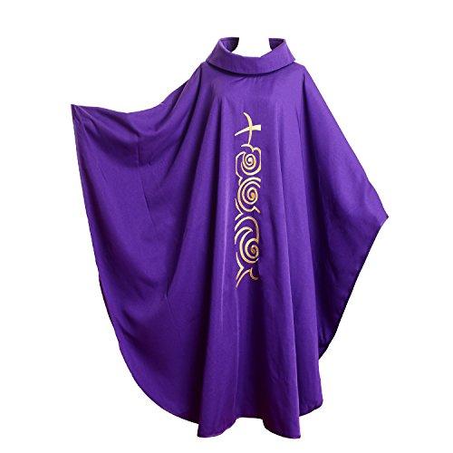 BLESSUME Kirche Priester festes Muster Kasel Vestments Lila
