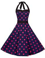 Zarlena Rockabilly 50er Polka Dots Kleid in mehreren Farben und Größen 34 36 38 40 42 44 46 48
