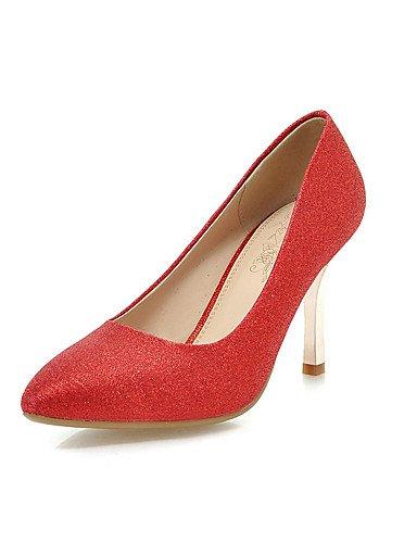 WSS 2016 Chaussures Femme-Habillé / Décontracté / Soirée & Evénement-Rouge / Argent / Or-Talon Aiguille-Talons / Bout Pointu-Talons-Similicuir silver-us9 / eu40 / uk7 / cn41