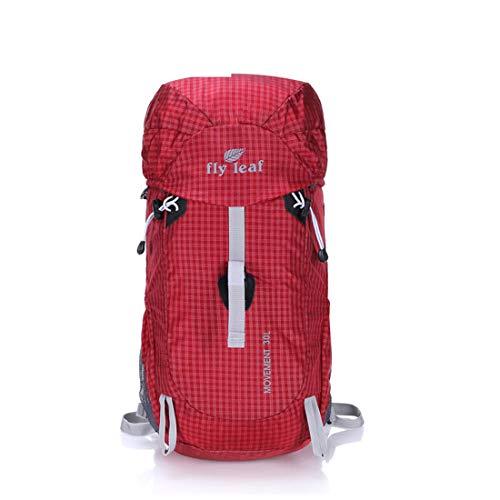 Felicipp zaini fold multi-funzione di viaggio di archiviazione camminando arrampicata selvaggio camping tempo libero sport neutro spalle adatto per l'uso all'aperto (color : red)