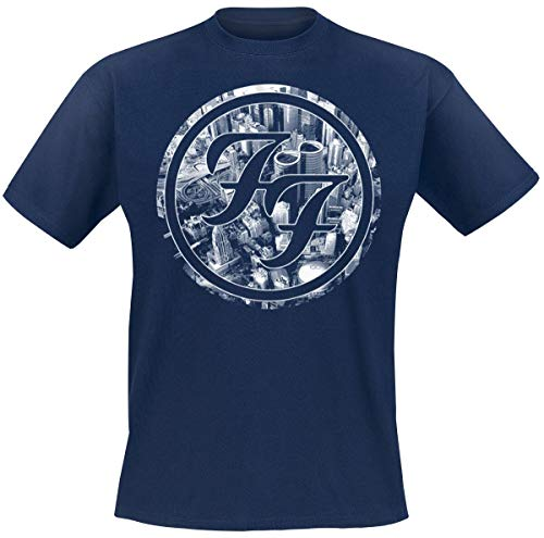 Foo Fighters Sonic Highways - City Circles Camiseta Azul L