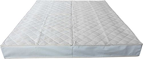 Frottee Wasserbettbezug Auflage Bezug Baumwolle für Wasserbett Rundumbezug (200 x 220 cm)